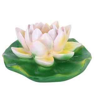 Emoshayoga Décor de Fleurs artificielles imperméables Belle extérieure pour Fontaine(Small and Medium White Lotus)