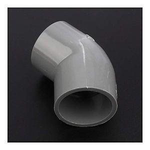 Ensemble d'outils sanitaires 50 mm PVC coude Joints 45 degrés Jardin Connecteurs d'eau du système d'irrigation Raccords Aquarium adaptateur de tuyau Réservoir 12/24 / 48pcs