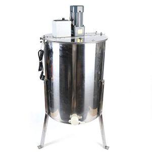 Extracteur de miel en Acier Inoxydable Apiculteur Équipement Extracteur de miel Électrique 4 Châssis Extracteur de Miel