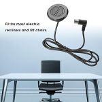 Fauteuil inclinable électrique, fauteuil inclinable électrique canapé 2 boutons télécommande interrupteur rond chaise élévatrice à glissière contrôleur de main de tige de poussée électrique