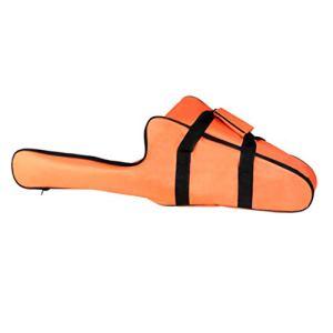 Fugift Sac de transport pour tronçonneuse – Housse de protection portable et étanche – Sac de rangement pour tronçonneuse – Orange