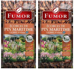 FUMOR – Ecorces de pin Maritime 100L- Ideal pour Les massifs Les Pieds des vegetaux Plantes de Terre Bruyere 100% Naturel – FUMPIN