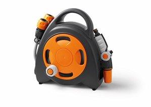 GF 80005606 Mini dévidoir Aquabag + Raccords et Lance d'arrosage 11,5 m – Orange