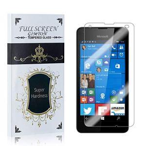 GIMTON Verre Trempé pour Microsoft Lumia 550, Dureté 9H, Ultra Résistant Protection en Verre Trempé Écran, sans Bulles, Installation Facile, 1 Pièces