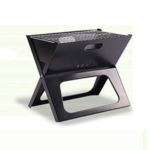Grill de charbon portable Portable ultra-léger en plein air Grill Barbecue Barbecue au charbon Grill pliant for Camping pique-nique Barbecue de fête d'extérieur ( Color : Black , Size : 44x29x36.5cm )