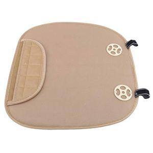 Growrak Coussin de sol coton lin carré solide oreiller de sol coussin de siège pour salon chambre balcon bureau extérieur,Beige