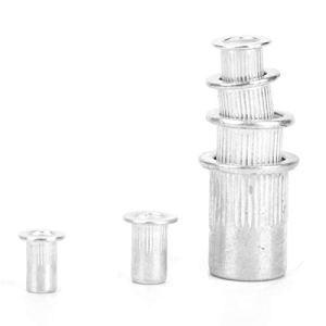 LDDJ Boulon 90pcs Rivet en Aluminium Écrou à tête Plate Fixation à tête filetée pour Les Industries de la Fabrication Matériel en métal