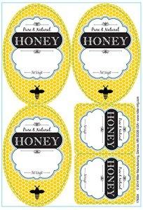 Little Giant Farm & AG Hlabel Étiquettes pour bocaux à miel