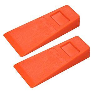 Lot de 2 cales d'abattage en plastique orange de 14 cm