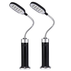 Migavenn 2 pcs Portable Magnétique 360 Degrés Réglable LED Lampe de Lumière avec 15 LED pour Barbecue Barbecue Grill Extérieur Grill Accessoires Outils