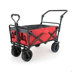 NEHARO Chariot Pliant Wagon Pliable Pliant Utilitaire extérieur Wagon for Camping en Plein air Commercial Chariots de Jardin Wagons (Color : Red, Size : 85x50x100cm)