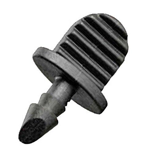 Orbit 1/10,2cm Drip barbelé Bouchon pour tube de goutte–Lot de 10 2 noir