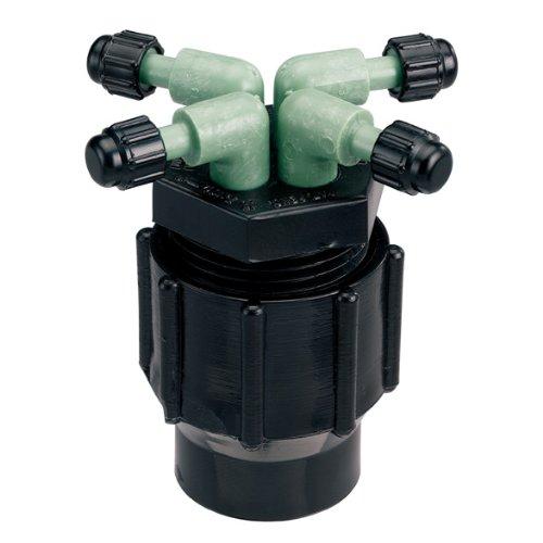 Orbit Lot de 5 systèmes d'irrigation goutte à goutte à 4 ports, tuyau goutte à goutte 61004D