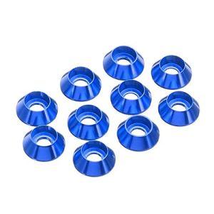 OYWNF 50pcs m3 Tasse de Tasse hexagonale vis hexagonale laveuse écrous d'alliage d'aluminium Multicolore (Color : Dark Blue)