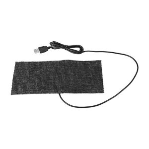 Paquet de 2 tapis de chauffage en fibre de carbone, tapis de souris, couverture chaude, coussin chauffant USB, coussin chauffant pour animaux de compagnie