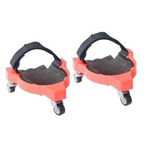 Protecteur de genouillère de poulie multifonction 2Pcs, protection universelle de genou de planche à roulettes de tricycle de genou de genou avec le rouleau, pour le travail de plancher de travaux de