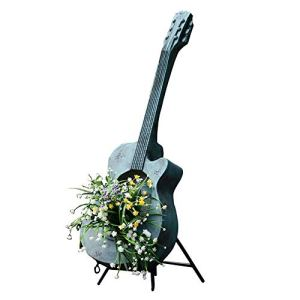 Rishx Guitare American Country Arts Flower Pot Instruments de Musique d'orgue Floral Art Houseplant Jardin Cour Décoration