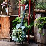 Rishx Guitare American Country Arts Flower Pot Instruments de Musique d'orgue Floral Art Houseplant Jardin Cour Décoration