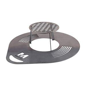 RM Design Plaque de grillage ronde, plaque de Barbecue en acier, plancha à grillades, plat de cuisson diamètre 60cm