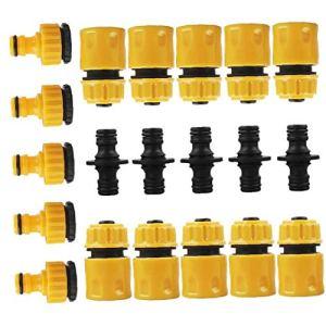 Robinet connecteur Kit de jardin tuyau Ensemble connecteur Set Montage Raccord de tuyau avec Extender tuyau pour outils de jardin de lavage Jardinage