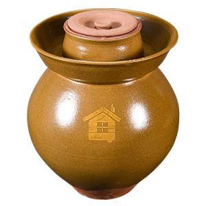 RTDotey Pot d'argile, Terre en Terre Cuite Rhum Schmalztopf Faïenware Miel Brown,Marron,12