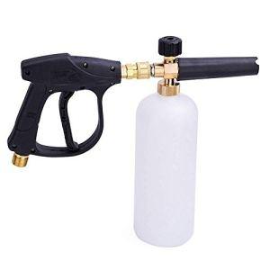 Stone Banks Pistolet pour laveuse à haute pression avec Kit De Bouteille De Lance en Mousse À Neige De 1 L pour Lave-Auto Nettoyage de vitres M22 Métrique Raccord fileté mâle