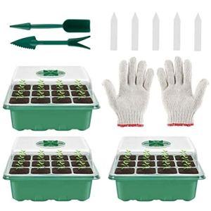 Susian Plateau de semis, Mini-Serre de Plateau de semis intérieur 12 cellules pour boîte de Culture de pépinière de Plantes pour Balcon de Cour de Ferme à Domicile, 18x14x10cm