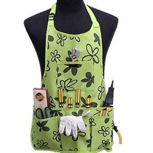Tablier de Jardinage avec 14 Poches Tablier de Travail en Oxford 600D Tablier Organiseur d'outils à Main pour Jardin Bricolage Homme et Femme