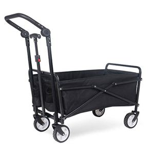Wmeat-P Chariot de Jardin Pliable Bâche intérieure Amovible à Main,Idéal pour Camping, Plage, Jardinage, Animaux domestiques
