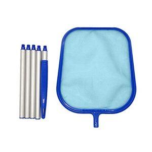XIAOQI Filet de nettoyage de piscine avec 5 poteaux pour nettoyer les spas piscine jacuzzi aquarium