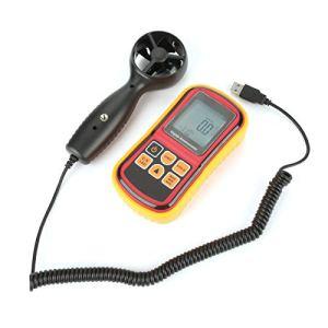 01 Compteur de Vitesse du Vent, anémomètre numérique LCD Portable GM8901 testeur de Vitesse de l'air testeur de Vitesse du Vent