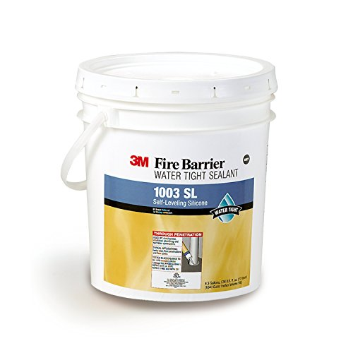 3M Fire Barrier Water Tight Sealant 1003 SL, Gray, 4.5 Gallon Drum (Pail)