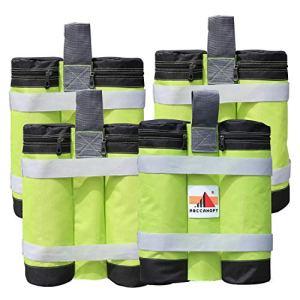 ABCCANOPY Lot de 4 sacs de lestage pour tonnelle pop-up – Qualité industrielle – Double couture