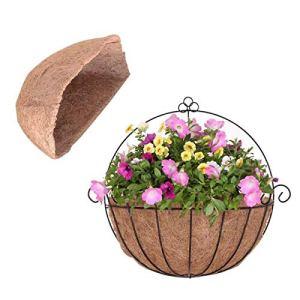 æ— Lot de 2 revêtements de rechange en fibre de coco pour pots de fleurs à suspendre