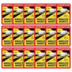 Angles Morts sur Les véhicules Lourds, 1-30 Stickers Angles Morts Poids Lourd Officiel adhésif pour Camion Autocollant L.170 x H.250 (12PC)