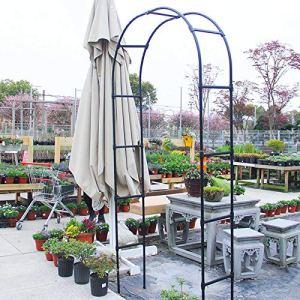 Arche de Jardin en Métal Tonnelle, Arche a Rosiers, Arcade de Pergola Noire, pour Les Décorations Élégantes de Fête de Mariage Et Les Plantes Grimpantes de Jardin Vignes