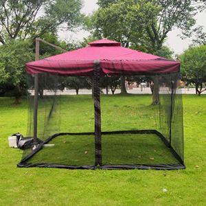 BCXGS Patio Parapluie Moustiquaire – Moustiquaire pour Gazebo – Jardin extérieur Parapluie Table Screen Parasol Couverture de Moustiquaire Couverture de Moustiquaire – 250x250x230cm