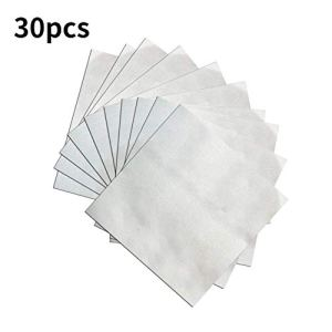 Brillie 30 pcs Réparation Patch Gonflable Auto-Adhésif Transparent Piscine Patches Ruban Heavy Duty pour Gonflable Piscine Bateau Jouets