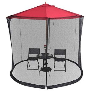 BTASS Moustiquaire pour Parasol, Cylindrique Écran De Fabrication De Moustiques De Couverture De Parapluie, Convient À La Couverture De Parapluies De Patio, 300 * 230Cm