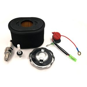 Cancanle Filtre à air Bouchon de réservoir de Carburant Filtre Mixte Interrupteur Bougie d'allumage pour GX160 GX200 GX 160 200 5.5HP 6.5HP Générateur de Moteur