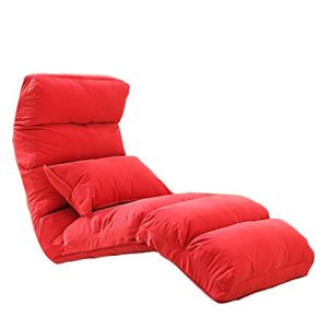 Chaise de sol Sofa paresseux pliable chambre lit dossier chaise étage balcon canapé inclinable 176 * 56 * 18cm mwsoz (Color : 1#)