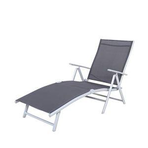 Chicreat Korfu – Chaise longue basique, 147x63,5x87cm