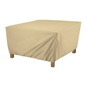 Classic Accessories 55-910-022001-EC Terrazzo Square Ottoman/Coffee Table Cover Large