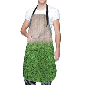 COFEIYISI Tablier de cuisine,Concept d'arrêter la destruction de la nature,Tablier pour Cuisine Restaurant Barbecue Cuisson Cuisson Jardinage pour Homme Femme