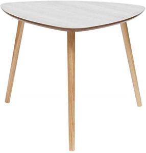 Coffee Table Table triangulaire simple, table d'appoint pour canapé, salon, chambre à coucher, balcon, jardin en bois, multifonction, peut être déplacée et stable