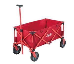 Coleman Chariot Camping Pliable, Chariot de Transport, Chariot de Jardin à 4 Roues, Charrette à Main, Tout Terrain