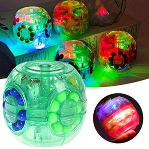 Dan&Dre Haricots Magiques, Jouets éducatifs créatifs, Puzzle carré LED Flips Jouets Haricot Magique Jouet Rotatif Jouets de décompression luminescents Portables pour Enfants