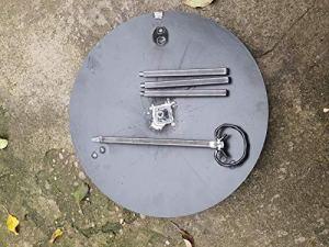 Disque de cuisson de 46 cm en acier résistant à l'usure et aux hautes températures