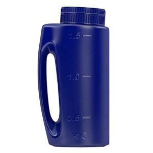 Distributeur d'engrais Semence gazon Spreader poche jardinage outil avec réglable Taille du trou pour Graines à gazon sel déglaçants calcium Outils Bleu jardin