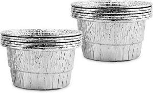 Doublures jetables de Seau d'égouttement, 125 unités, doublures de Seau en Aluminium pour Graisse de Barbecue et de Gril, Nettoyage Facile du Gril, pour la Plupart des seaux d'égouttement Standard